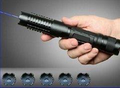 5in1 445nm 1w/1000mw metal cased focusable blue laser pointer