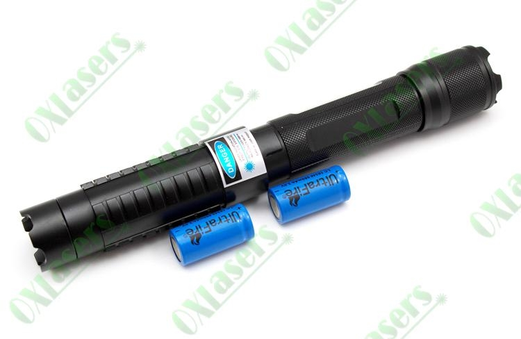5in1 445nm 1w/1000mw metal cased focusable blue laser pointer 5