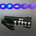 OXLasers OX-BL1 1000mw/1W FOCUSABLE burning blue laser pointer with 5 star caps