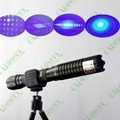 445nm 1w/1000mw burning focusable blue laser pointer (5 star caps) free shipping