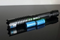445nm 1w/1000mw burning focusable blue laser pointer (5 star caps) free shipping 4