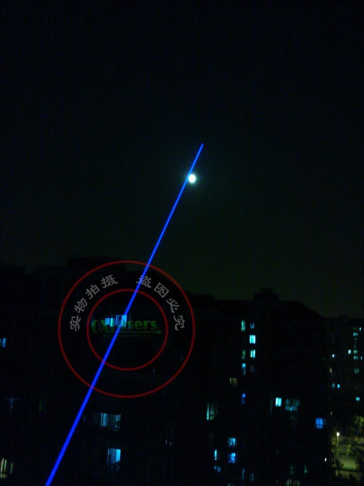 445nm 1w/1000mw burning focusable blue laser pointer (5 star caps) free shipping 5