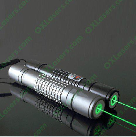 OXLasers burning 100mW focusable green laser pointer flashlight + 5 caps