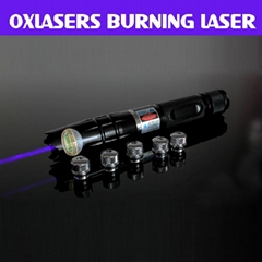 OXLasers OX-BX3 1.3W focusable burning blue laser pointer with 5 star heads