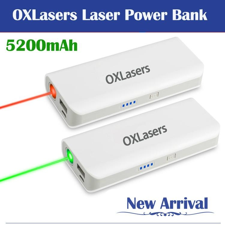OXLasers OX-20 5200mah power bank for phones and tablet pc with laser pointer 1