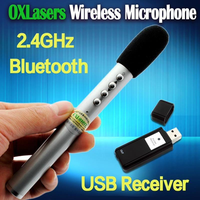 OXLasers portable 2.4GHz handheld wireless mini microphone bluetooth MIC