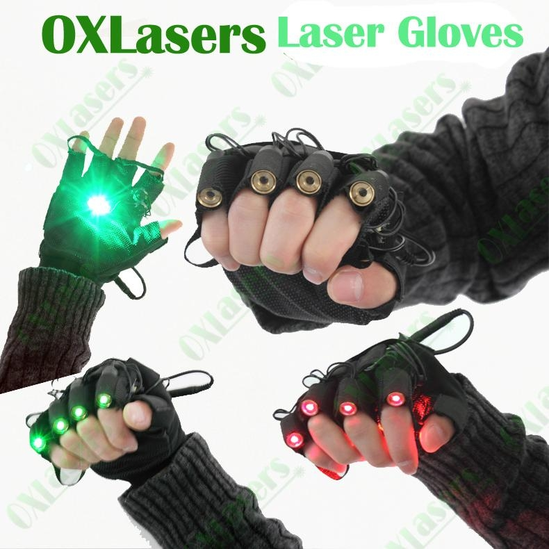 OXLasers green laser gloves with 4 laser modules for DJ party dancing show light 1