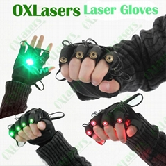 OXLasers green laser gloves with 4 laser modules for DJ party dancing show light