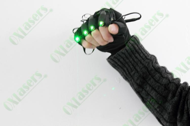 OXLasers green laser gloves with 4 laser modules for DJ party dancing show light 2