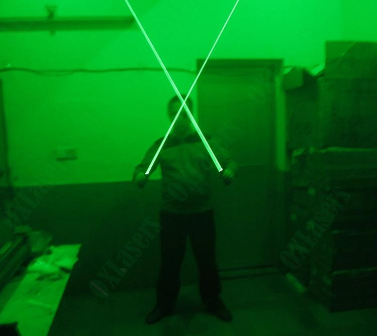 OXLasers NEW dual head green laser pointer laser sword for dj party dance laser  4