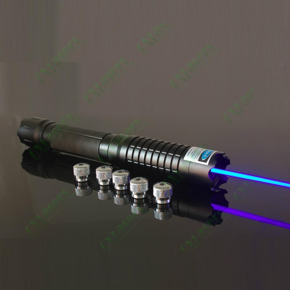 5000mw/5W OXLasers OX-BX5 the most powerful burning blue laser pointer 4