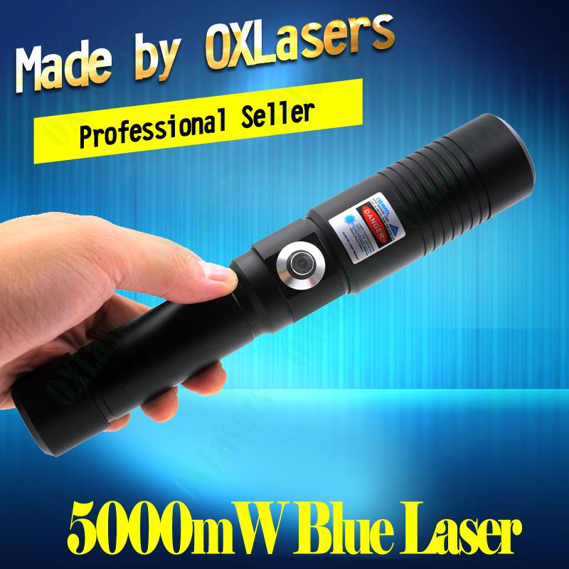 OXLasers OX-BX9 5000mW Burning Laser Torch 445nm Focusable blue laser pointer   1