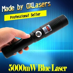 OXLasers OX-BX9 5000mW Burning Laser Torch 445nm Focusable blue laser pointer   (Hot Product - 1*)