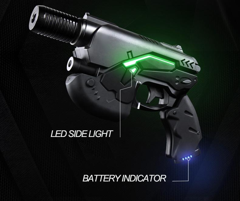 oxlasers 445nm burning 3W blue laser gun laser pointer gun laser focusable  9