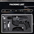 oxlasers 445nm burning 3W blue laser gun laser pointer gun laser focusable
