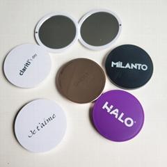 ABS双面磁扣广告镜塑料口袋镜