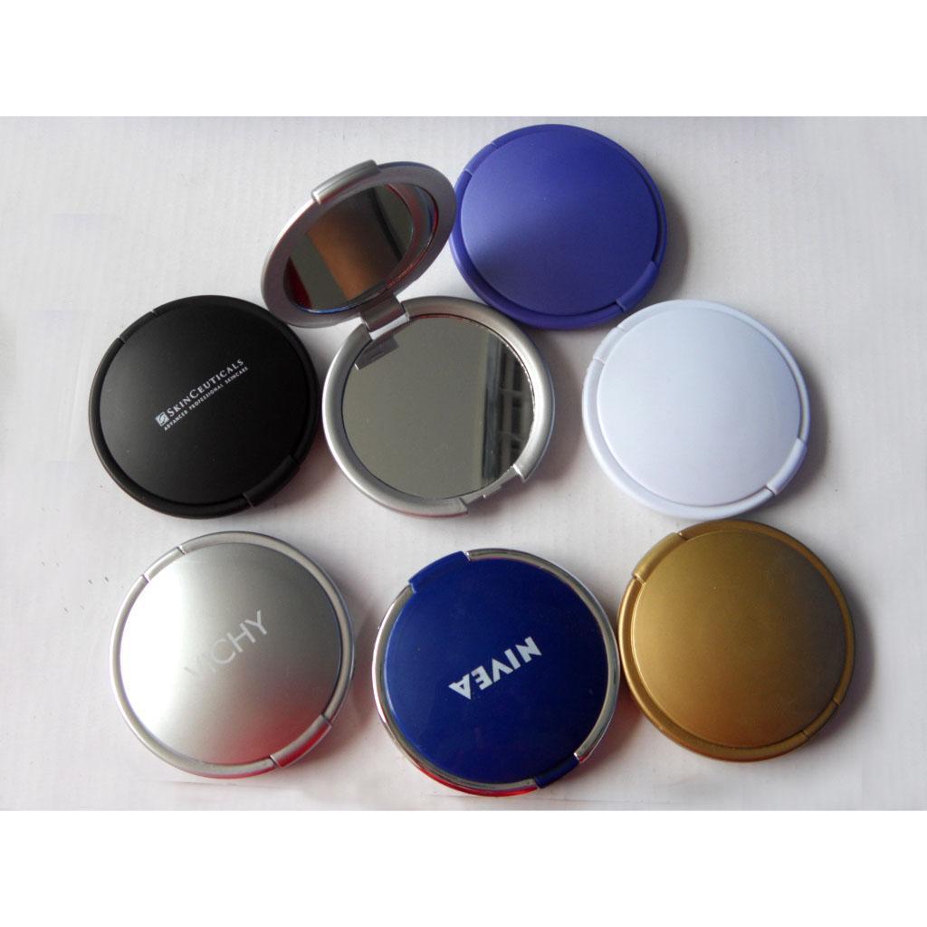ABS双面磁扣广告镜塑料口袋镜 3