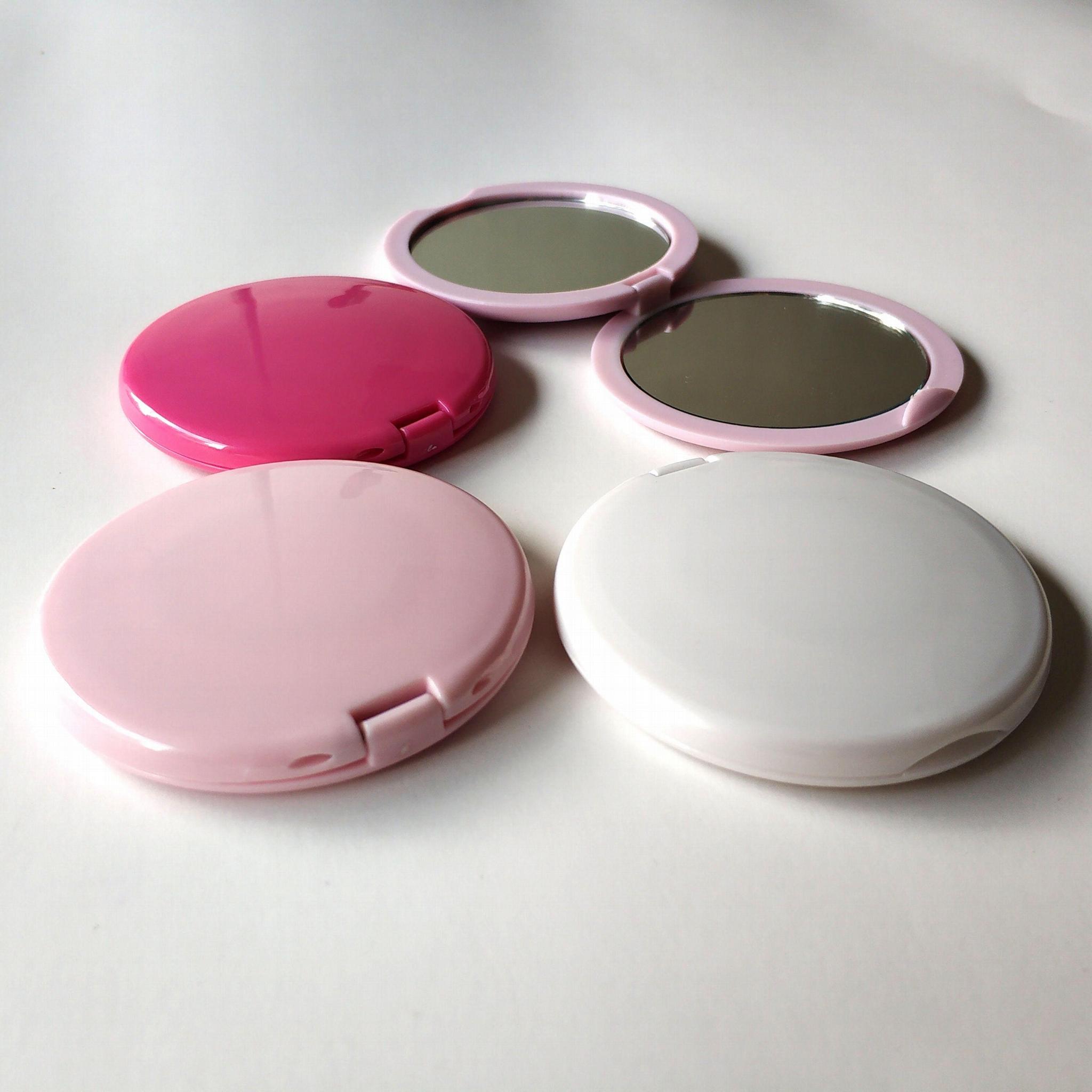 ABS双面磁扣广告镜塑料口袋镜 5
