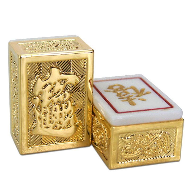 mahjong set gold plated chinese mahjong tiles b020