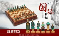Portrait  chess set