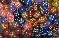 colorful dice(resin)