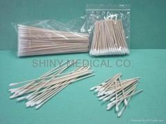 Wooden cotton stick