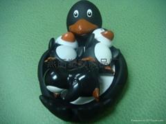 vinyl penguin mother toy elephant son penguin family penguin toy
