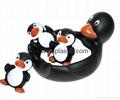 搪胶企鹅 子母企鹅 企鹅母亲小企鹅妈妈 企鹅爸爸 企鹅一家人 3