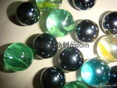 玻璃珠塑膠珠子珍珠工藝品彩珠幻彩膠珠透明塑料珠