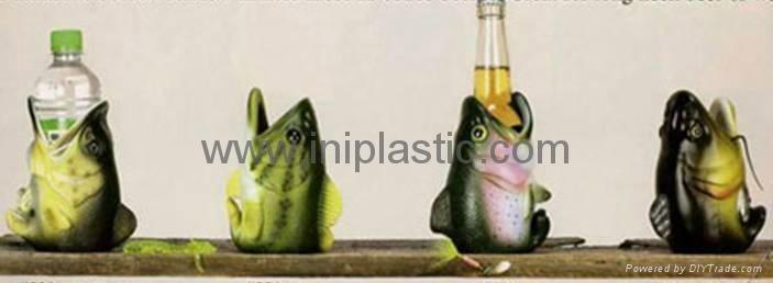 鱼头可乐罐|鱼头固定器|装罐鱼头|鲨鱼鱼头罐子 5