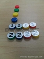 fridge magnet PVC magnetic sticker refrigerator poker chips keychain 6