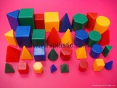 微型幾何體智力拼塊智力磚智力磚塊塑料幾何模型