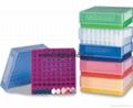 81-well freezer storage rack laboratory