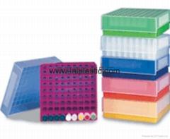 81-well freezer storage rack