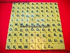 scrabble tiles English letter tiles