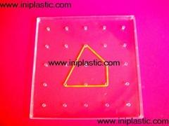 教学用塑料透明几何板|塑料几何钉板|塑胶钉板|塑料钉子板