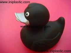 搪胶黑鸭|黑色鸭子|印刷鸭子|浮水鸭子|发光鸭子|印刷黑鸭|印刷小鸭