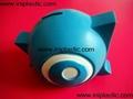 搪胶黑猪储钱罐搪胶白猪储钱罐黑白双猪储钱罐猪仔钱罐 2