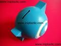 搪胶黑猪储钱罐搪胶白猪储钱罐黑白双猪储钱罐猪仔钱罐 3