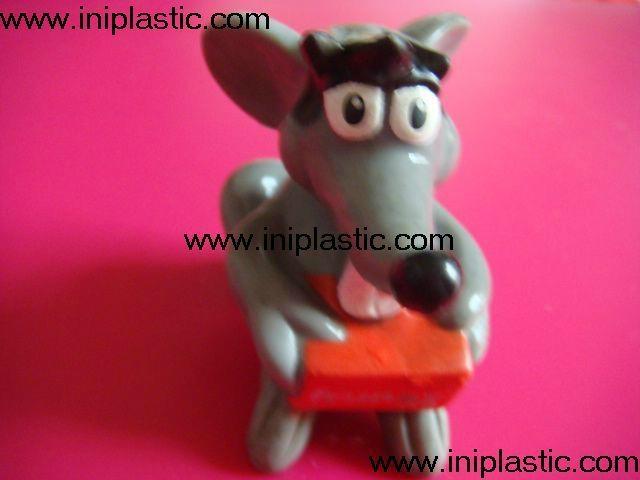 搪胶老鼠|PVC老鼠头|发声老鼠|发光老鼠玩具 4