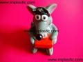 搪胶老鼠|PVC老鼠头|发声老鼠|发光老鼠玩具 5