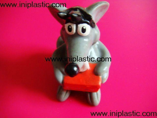 搪胶老鼠|PVC老鼠头|发声老鼠|发光老鼠玩具 6
