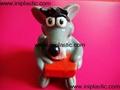 搪胶老鼠|PVC老鼠头|发声老鼠|发光老鼠玩具 2
