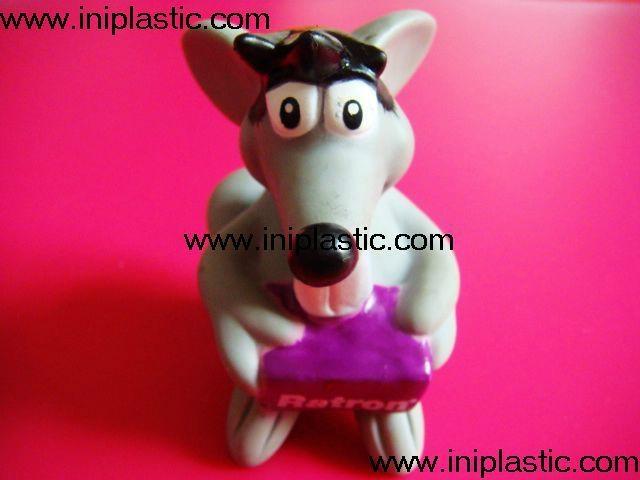 搪胶老鼠|PVC老鼠头|发声老鼠|发光老鼠玩具 1