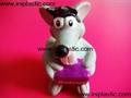 搪胶老鼠|PVC老鼠头|发声老鼠|发光老鼠玩具 8