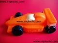 vinyl squeaky car F1 racer pull back car