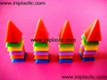 9)we supply stackable houses stackable caps stackable paramids