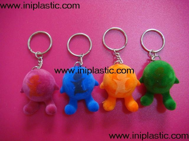 小人钥匙扣|植绒公仔|植绒小人仔|植绒玩具 1