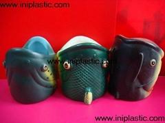 魚頭可樂罐|魚頭固定器|裝罐魚頭|魚頭罐子