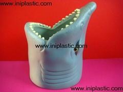 魚頭可樂罐|魚頭固定器|裝罐魚頭|鯊魚魚頭罐子